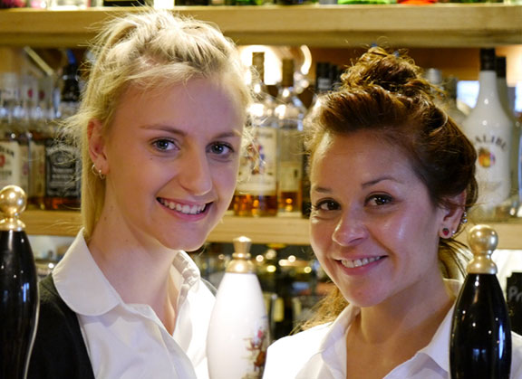 Waitress at the Springhead